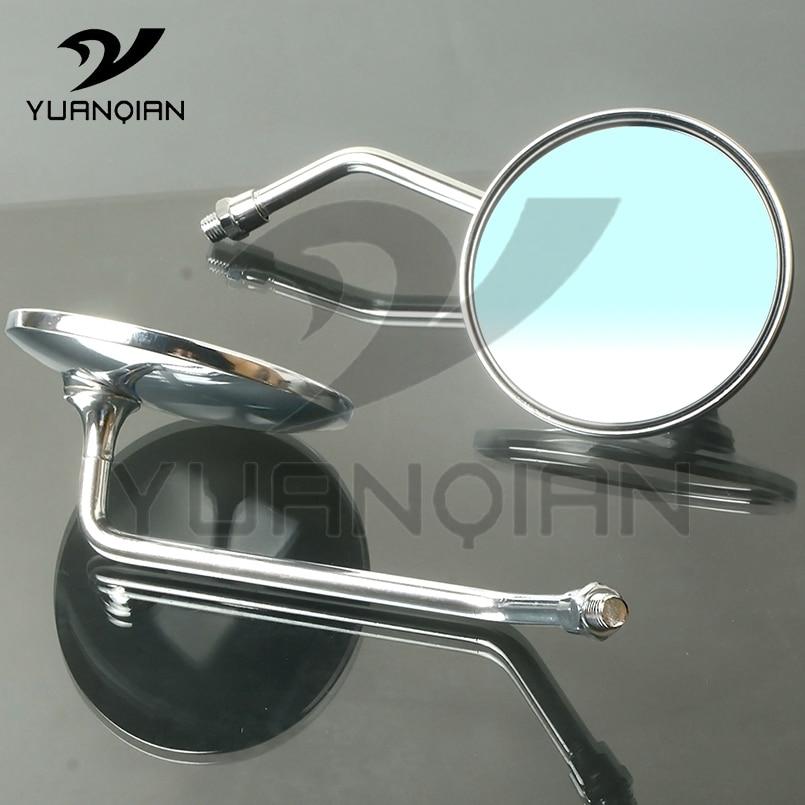 Мотоцикл E bike Черное круглое внешнее зеркало заднего вида алюминиевый сплав 8 мм 10