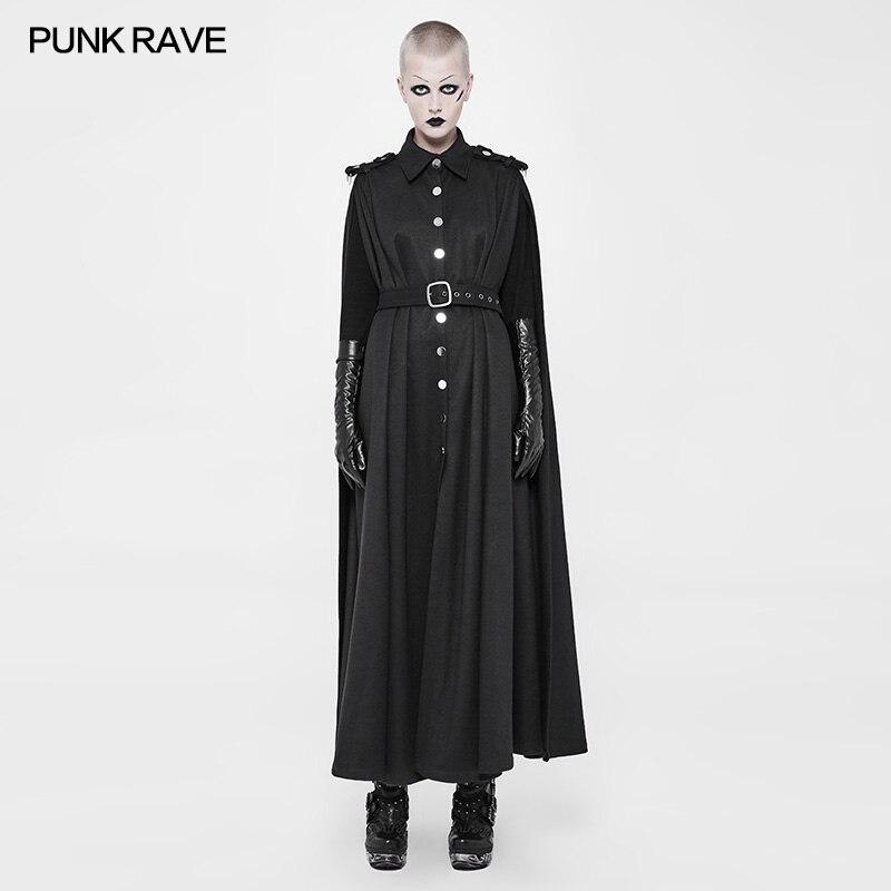 زي عسكري بانك رايف ، زي قوطي أسود عصري ، Steampunk Queen ، معطف وسترة WY885