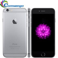 Original Unlocked iPhone 6 16G/64G/128G ROM IOS System 4.7'' Dual Core 8PM GSM WCDMA LTE Mobile Phone iPhone6 Best iphone