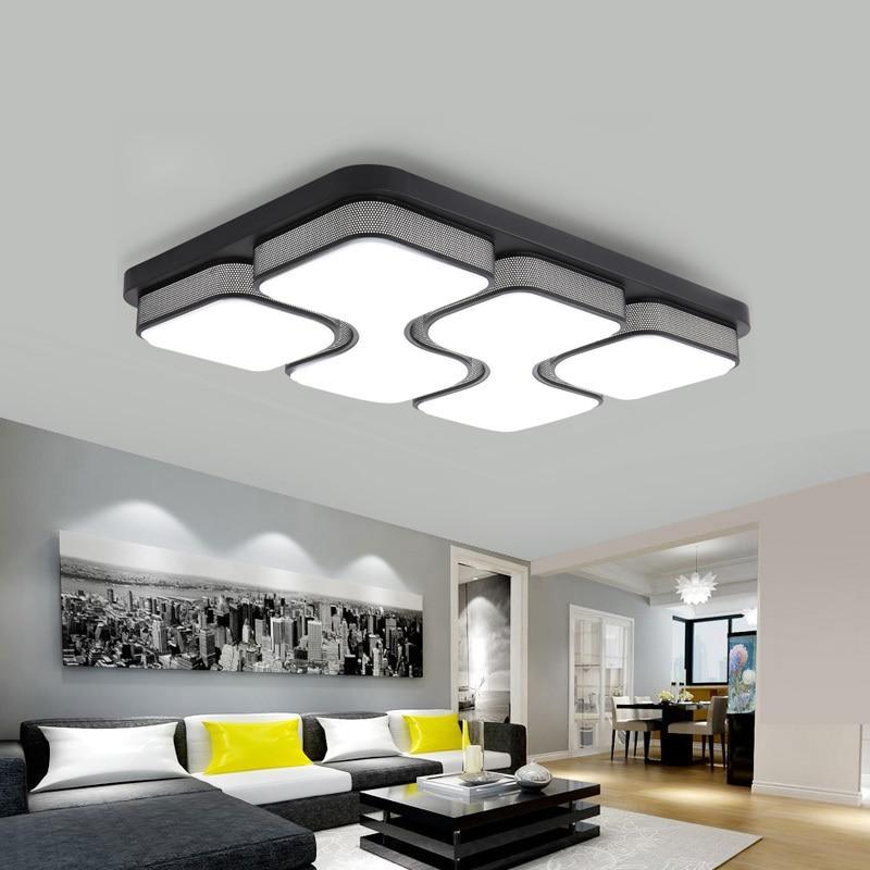 Fern Rechteck Moderne Led-deckenleuchten Für Schlafzimmer Wohnzimmer Mit Acryl Lampenschirm Dimmbar Hause Gelten 10-25 Meter