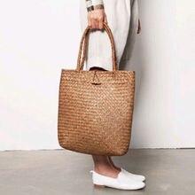Mode femmes été paille plage Boho grand sac fourre-tout bandoulière sac à bandoulière sac à main