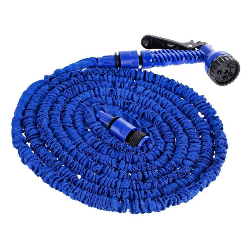 VODOOL 25/50/75/100/150/175/200FT, Kit de rociador de agua de limpieza para lavado de coches, manguera de agua telescópica Flexible para jardín, pistola para regar