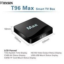 VHXSIN 2 sztuk/partia T96 MAX Android 9.0 4 GB pamięci RAM + 32 GB ROM Quad-Core 2.4 GHz 5 ghz wifi wsparcie/WiFi/3D/4 K/H.265 Smart Tv Box