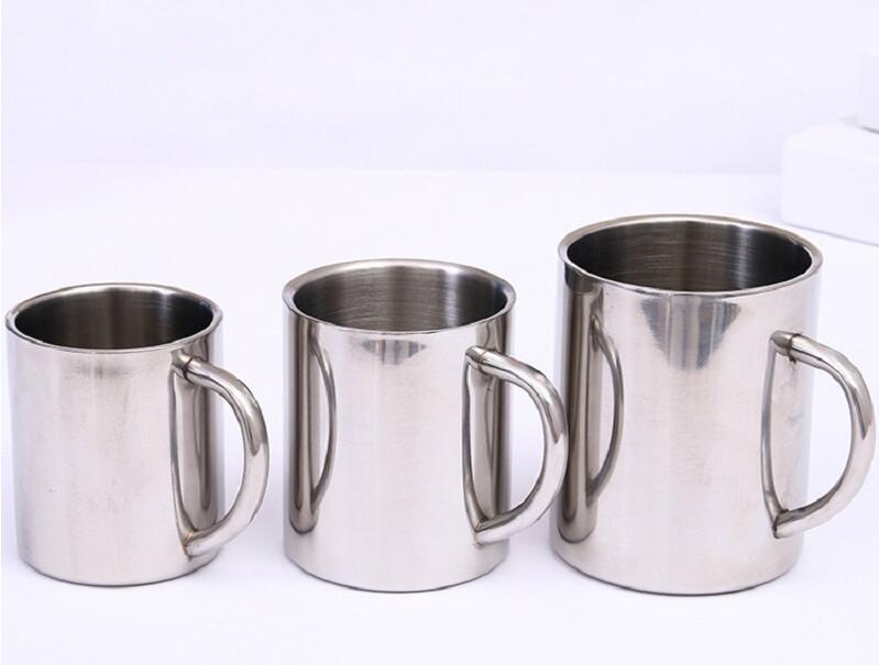 Double Wall Stainless Steel Coffee Mug  Cup 220ml 300ml 400ml Travel Tumbler Portable Mug Tea Cup