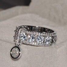 Nouveauté Vintage or Rose rempli anneaux de mariage pour les femmes bijoux de mode de luxe blanc Zircon bague de fiançailles
