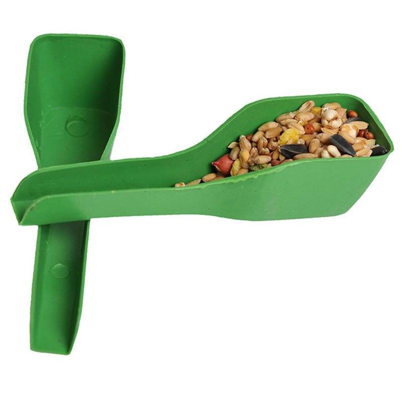 2/pçs novos pássaros além de utensílios de mesa mais comida colher aves aparelhos pombo thrush papagaio birdcage acessórios