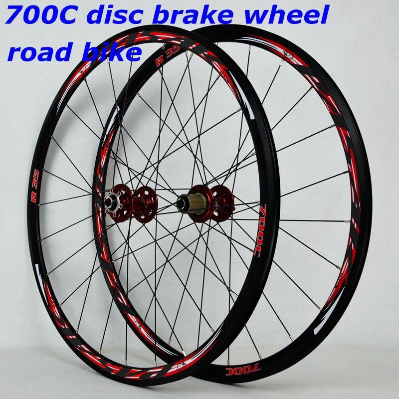 700C disc brake road wheels road bicycle disc brake road bike V/C brak 30MM alloy rim 700C/29inch Cross-country road bike wheel