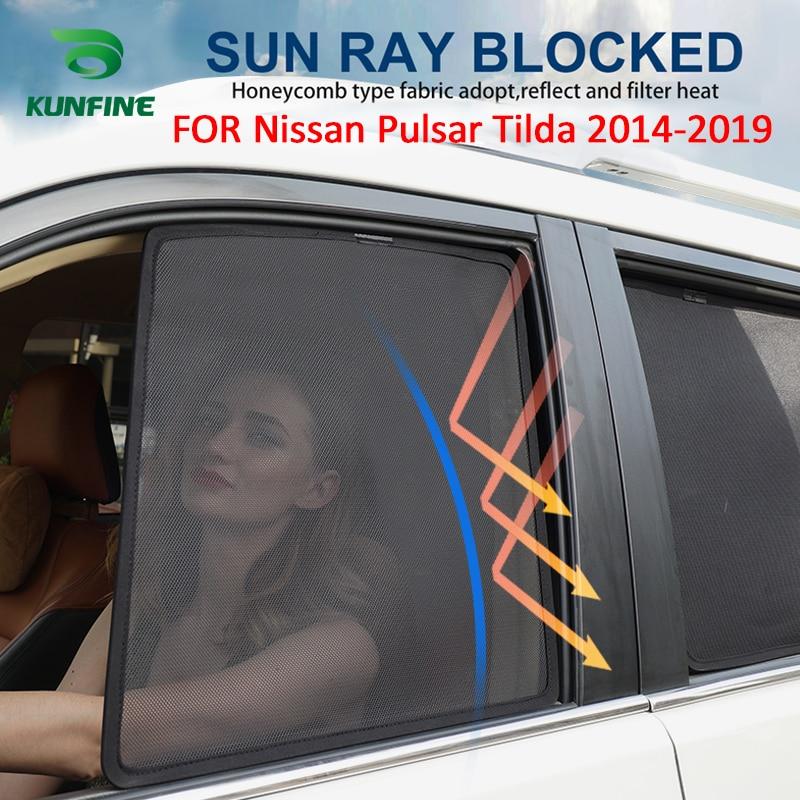 4 unids/set o 2 unids/set Coche magnético parasoles de ventana laterales de malla de sombra ciego para Nissan Pulsar Tilda 2014, 2015, 2016, 2017, 2018, 2019
