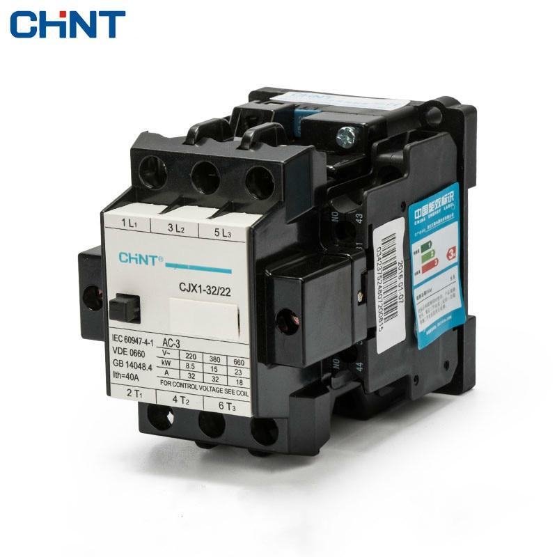 CHINT Comunicação CJX1-32/22 3TB44 Contatores Da Ca de Energia Elétrica 380 v 220 v 110 v 36 v 24 v bobina do motor