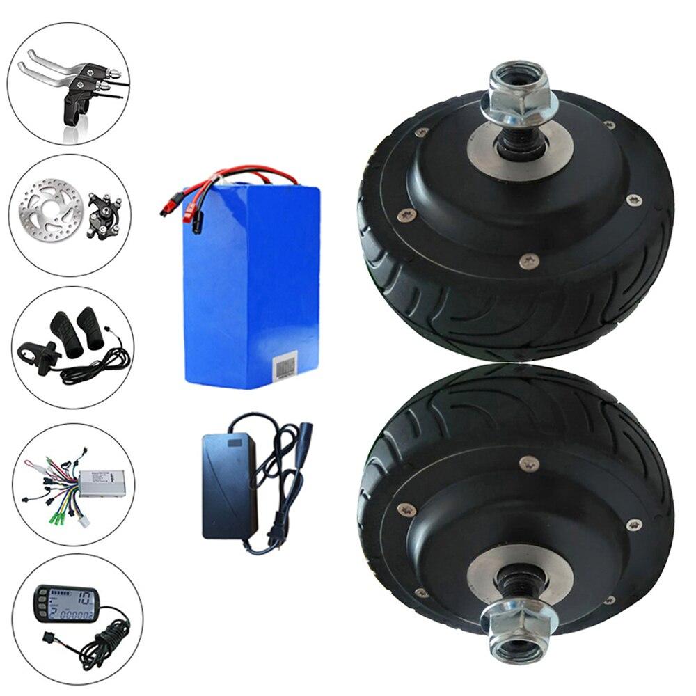 Motor de cubo pulgada doble para bicicleta eléctrica, rueda de 24V, 36V,...