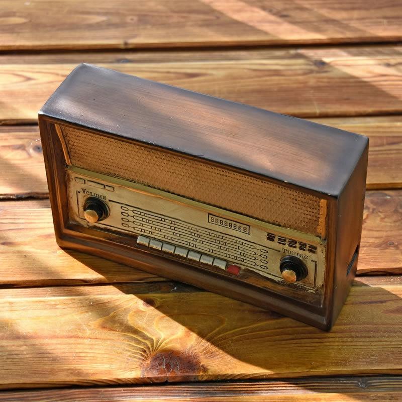Caja de dinero de Radio de estilo europeo, hucha grande, caja de ahorro, tanque, accesorios de decoración para el hogar, artesanía de regalo de resina