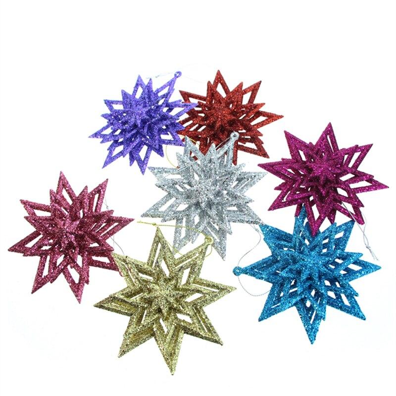 1 шт., золотой порошок, пятислойный, многослойный, Звездные рождественские украшения, рождественская елка, подарок, украшения, сделай сам, вечерние аксессуары для производства