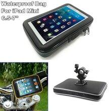 Rower Motor Bike uchwyt motocyklowy Bar Tablet Holder wodoodporna torba Case dla 6.5-7 Cal iPad