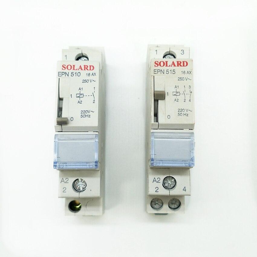 Импульсное реле EPN510 1, без самоблокирующегося реле EPN515 1NO 1NC, самоблокирующееся импульсное реле 230 В