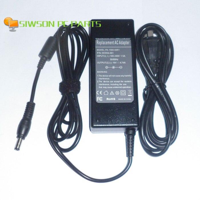 19V 4.74A portátil cargador de la energía del adaptador de Ca + cable para Toshiba M328 M330 M331 M332 M333 M335 M336 M338 M352 M353 M356 M357 M361