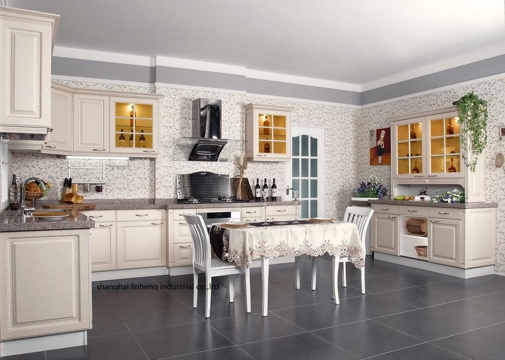 PVC/vinyl kitchen cabinet(LH-PV064) pvc vinyl kitchen cabinet lh pv032