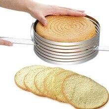 Adjustable Cake Slicer Cutter Mold Stainless Steel Round Bread Cake Slicer Cutter Mold Cake Tools DIY Kitchen Baking Tool