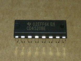 10 PÇS/LOTE CD4520BE CD4520 DIP-16 Dual 4-bit contador binário