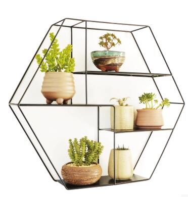 Indoor multilayer wall hanging, wrought iron balcony cosmetic. Sitting room jardiniere meaty plant combinations