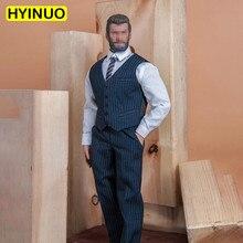 1/6 костюм в полоску для мужчин; одежда для джентльменов; официальная одежда; повседневная одежда; комплект одежды для мужчин 12 дюймов; модель...