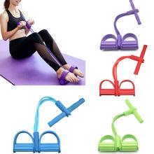 4 tubi Forte Elastici A Resistenza di Forma Fisica di Yoga In Lattice Pedale Ginnico Sit- up