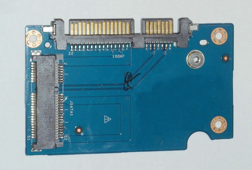 Placa adaptadora original E5450 SATA a mSATA 8JFFG 08JFFG ZAM60 prueba de LS-A892P buen envío gratis