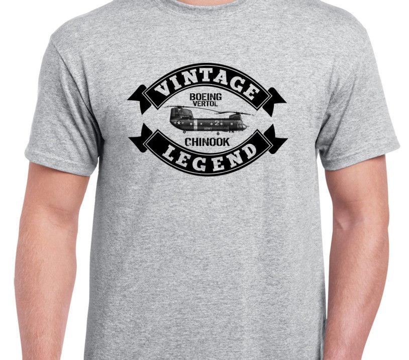 2019 Summer New Tshirt Fashion Men T Shirts Chinook Vintage Classic Aeroplane Helicopter Aircraft Plane Shirt Tee Shirt Hoodies