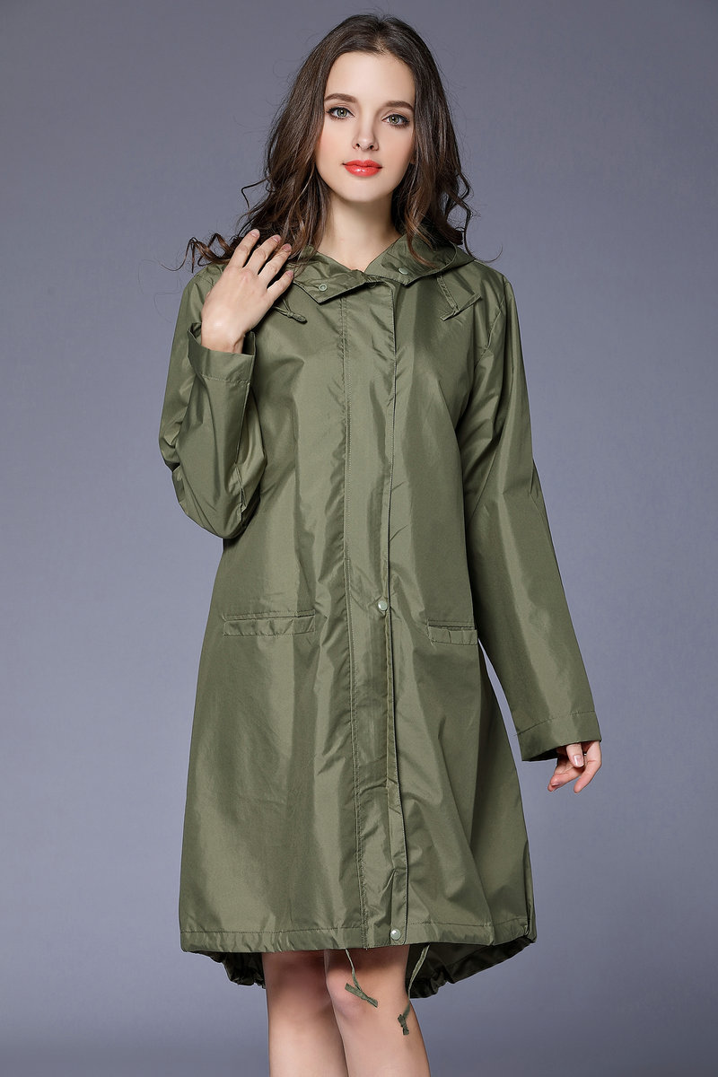 Raincoat Women Men Ladies Rain Coat Poncho Breathable Long Portable Water-Repellent Rainwear Jacket