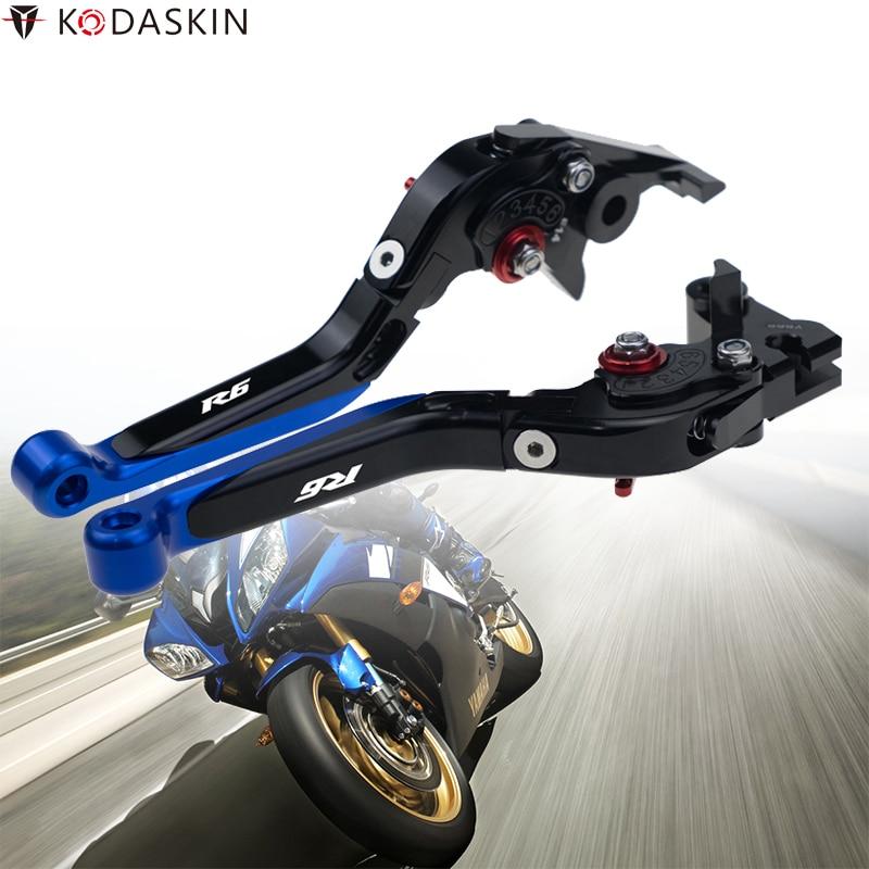 Kodaskin folding extensíveis alavancas de embreagem do freio para yamaha yzf r6 2003-2004 motocicleta