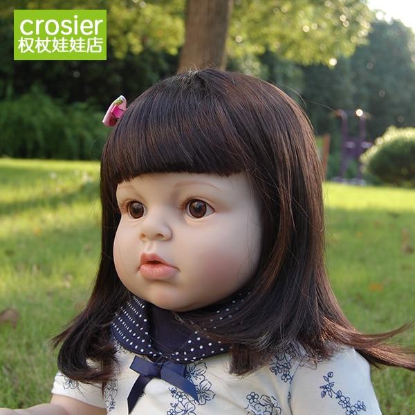 """-Clase de artesanía de 70cm 28 """"muñeca bebé bebés gran limitada de silicona realista niños socios nacimiento arte"""