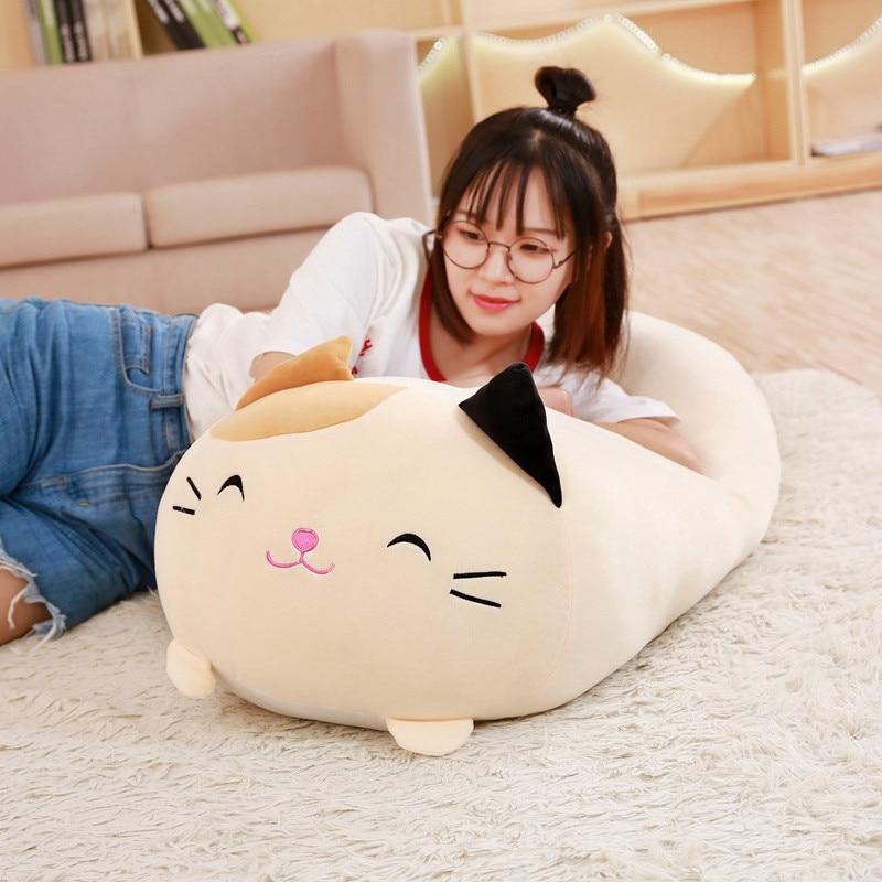 90cm Soft Animal Cartoon Corner Bio Pillow Cushion Cute Dog Cat Dinosaur Pig Unicorn Plush Toy Stuffed Lovely Kid Birthyday Gift