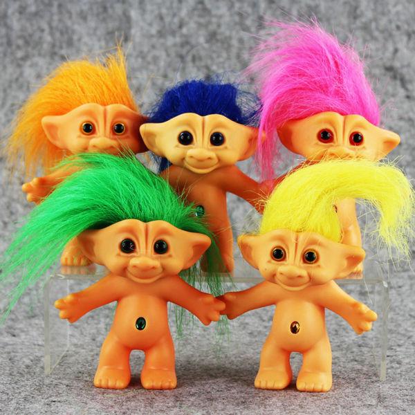 5pcs/1lot Trolls Cartoon Long Hair Dolls Action Figures Toys Girl Boy Christmas Gift Brinquedo Toy