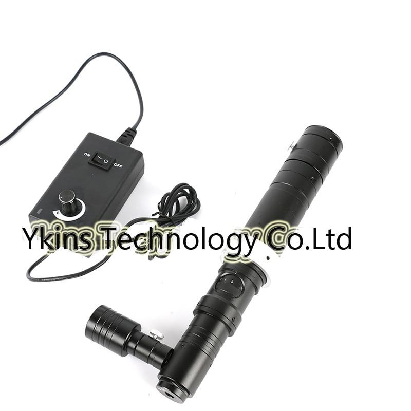 HD 1000X Zoom estéreo microscopio Cámara luz Coaxial Monocular C-montaje Zoom lente 40mm/50mm anillo lente de Cristal Zoon c-mount