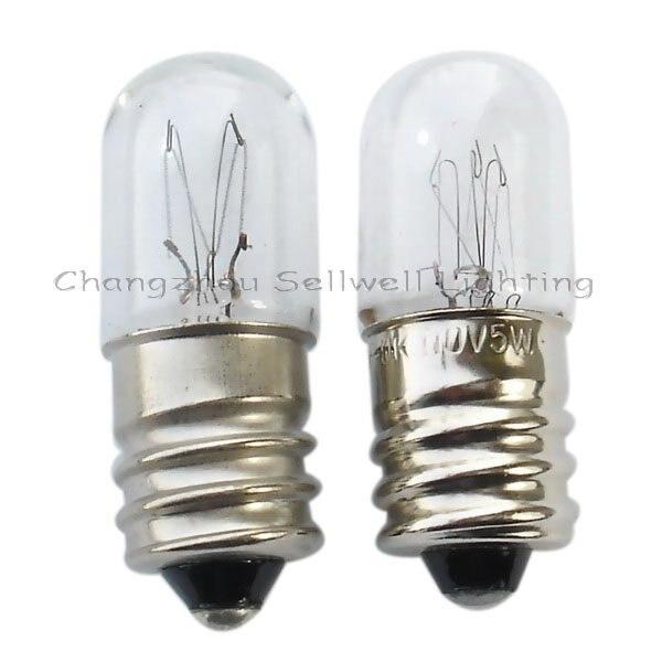 Miniature Lamp Bulbs Lighting E12 T13x34 110v 5w-7w 10pcs A106