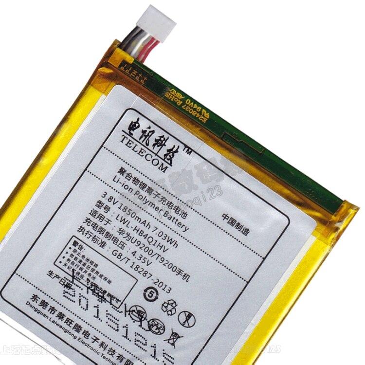 100% original de 3,8 V 1850 mAh de la batería original para HUAWEI s8600 p1 u9200 ascend teléfono celular HB4Q1HV hb4m1 u9500 d1