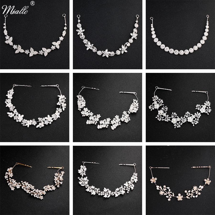 AliExpress - Miallo Classic Crystal Wedding Hair Vine Bridal Hair Jewelry Accessories Headpieces Women Headbands Princess Tiaras and Crowns