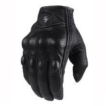 Militaire tactique Combat Paintball gant Sports de plein air chasse moto course vélo cyclisme doigt complet gants en cuir véritable