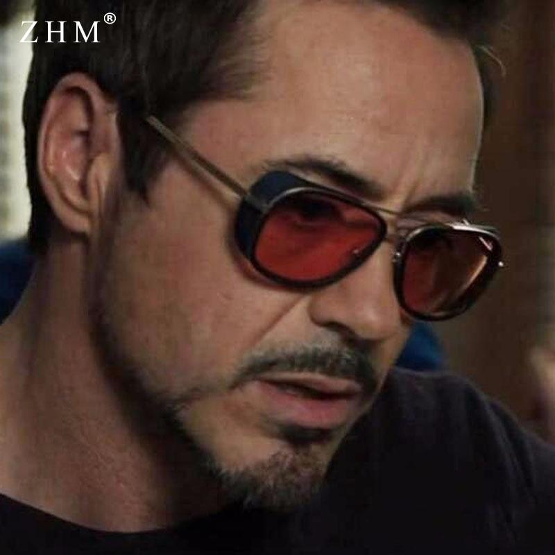 2020 Steampunk ton stark Iron Man 3 sunglasses men brand women mirror designer sun glasses Vintage l