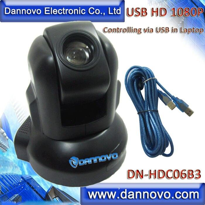 DANNOVO-كاميرا ويب USB HD 1080P PTZ ، تقريب بصري 3x ، كاميرا مؤتمرات فيديو USB ، دعم Skype ، Microsoft lunc ، التوصيل والتشغيل