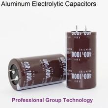 1 pièces bonne qualité 400v1000uf radiale DIP aluminium condensateurs électrolytiques 400v 1000uf tolérance 20% taille 35x60MM 20%