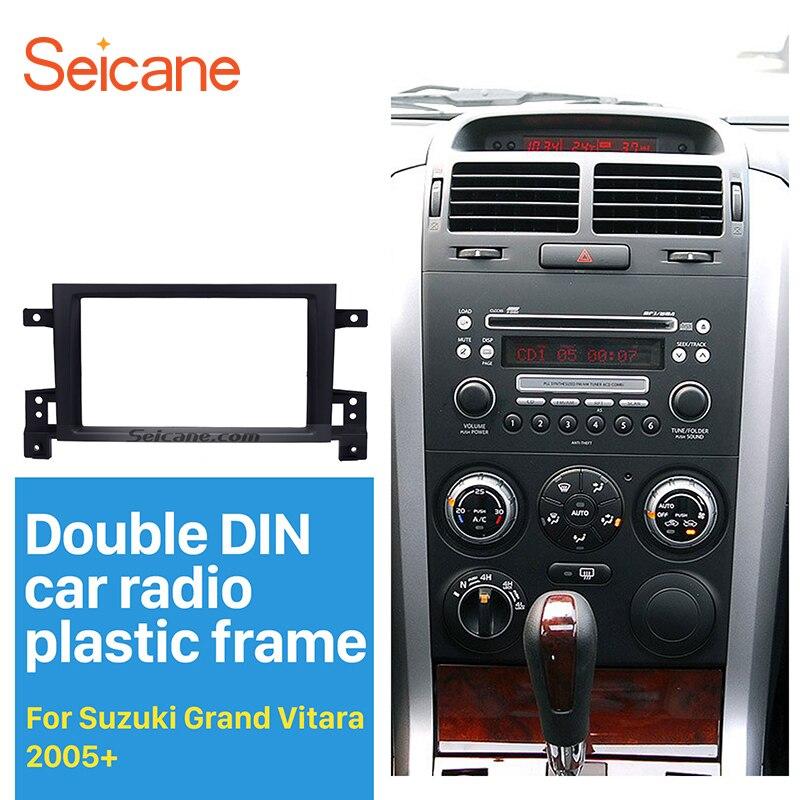 Seicane 2Din Radio de coche Fascia para 2005, 2006, 2007, 2008-2017 Suzuki Grand Vitara DVD Panel Dash Kit de instalación de embellecedor de Marco bisel