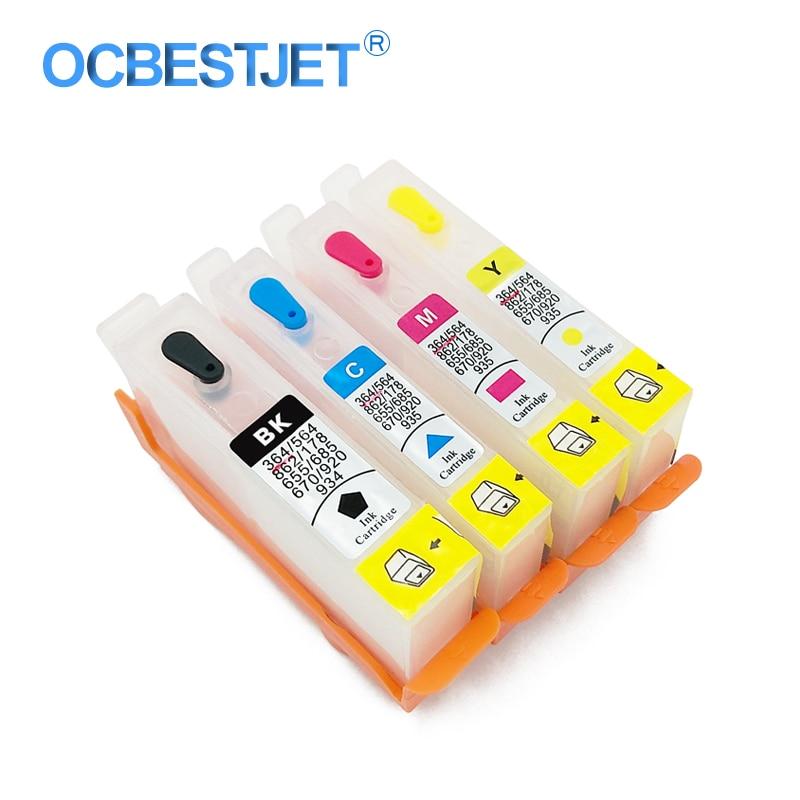 4 colores para HP 685 HP685 cartucho de tinta recargable vacío con Chip reconfigurable para HP Deskjet 3525 4615 4625 5525 impresora 6525