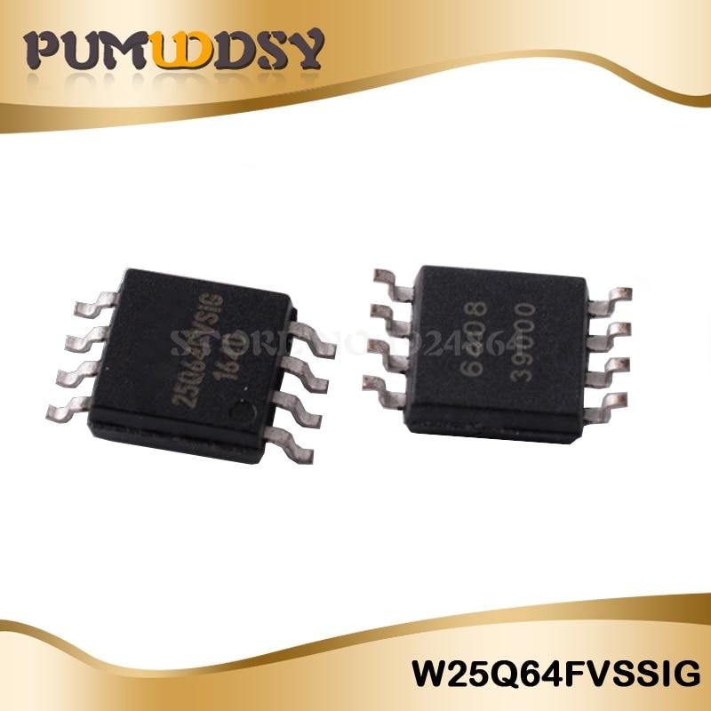 100 piezas W25Q64FVSSIG W25Q64FV 3V 64M-BIT memoria FLASH en serie con doble/QUAD SOP IC