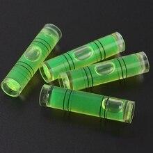 4 Pcs DIY  Mini Bubble Level Spirit Level High Accuracy Inclinometer Liquid Level Indicator For Compass  9.5*40mm