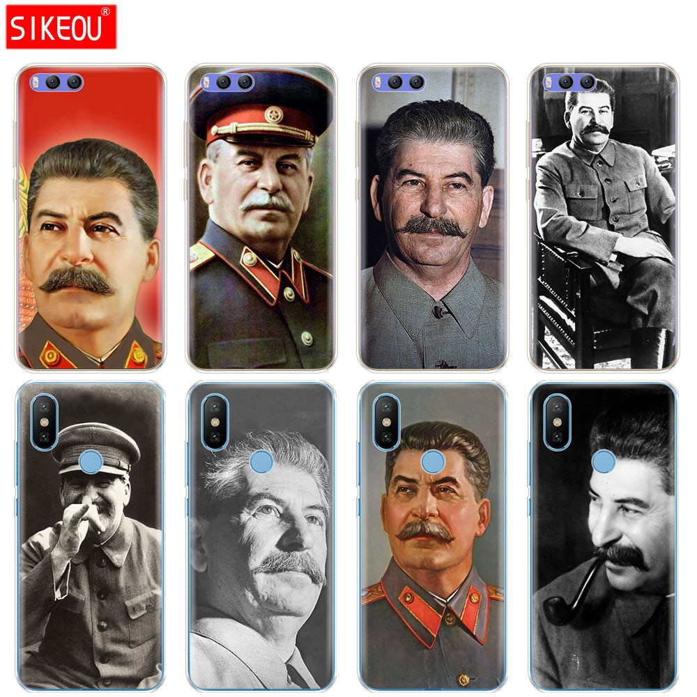 Silicone Case Capa Para Xiao mi mi 8 8SE A1 A2 5 5S 5x6 MI 5 mi 6 NOTA 3 MAX mi x 2 2 s stalin Urss Do russo