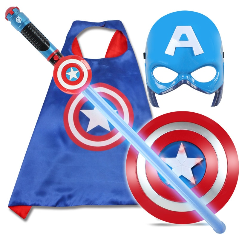 2018 Avenger Super Hero Cosplay captain america Steve Rogers figure Light-Emitting & Sound Cosplay property Toy Metallic shield