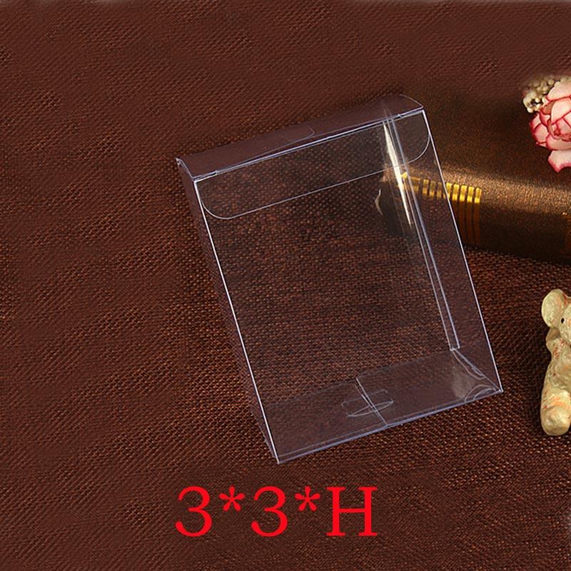 50 Uds 3x3xH de plástico de almacenamiento de caja transparente de PVC transparente cajas de Cajas de Regalo de la boda/Herramienta/comida/de embalaje de la joyería de DIY