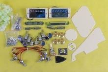 Yinfente inachevé bricolage Kit de guitare électrique matériel de guitare pick-up pont pièces de guitare et cordier