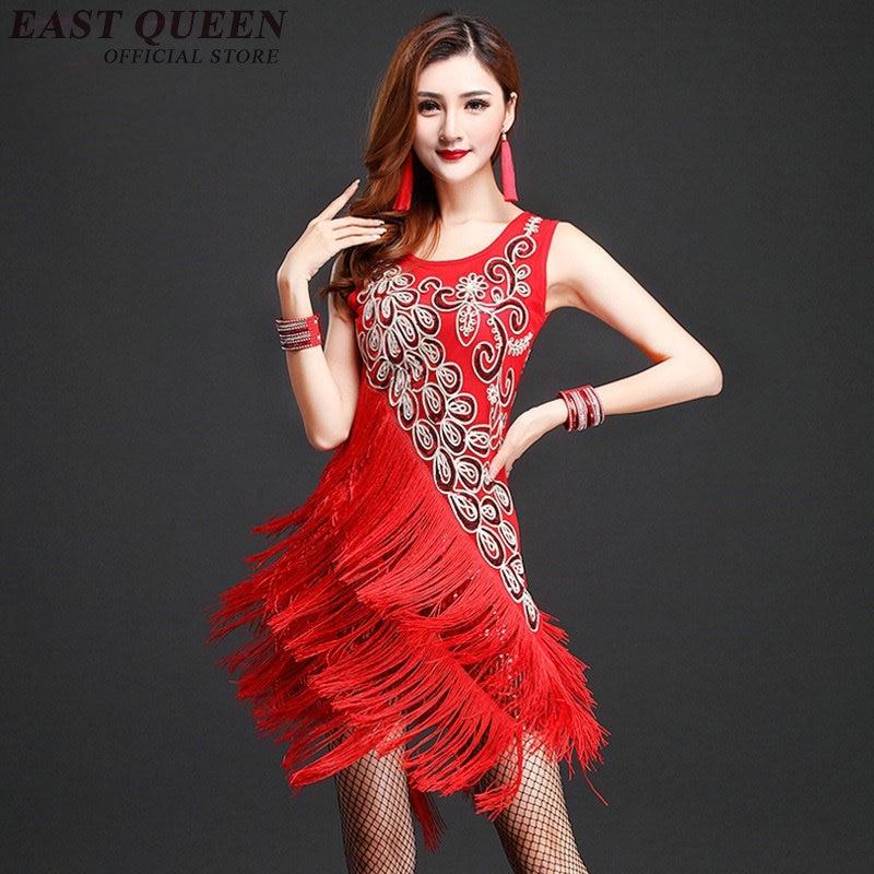 Latin dance dress women tango fringe dress for dance rumba salsa latin dance dress stage dance wear samba costume NN0852