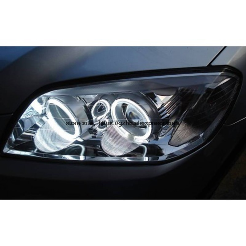 For Chevrolet CAPTIVA S3X 2006 - 2011 Ultra Bright Day Light DRL CCFL Angel Eyes Demon Eyes Kit Warm White Halo Ring